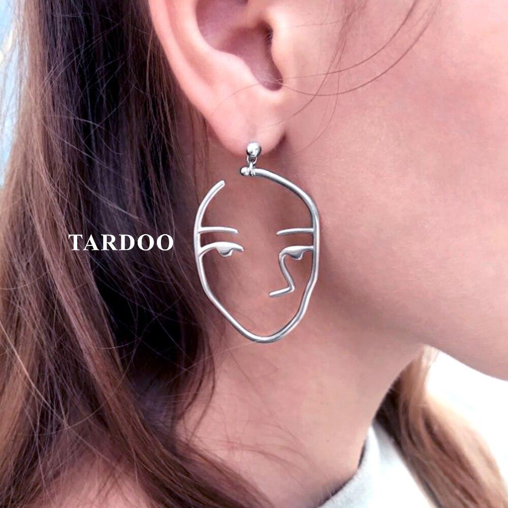 Tardoo Fabulos Genuine 925 Sterling Silver Stud Earrings for Women Hunan Face Modelling Personality Earrings Brand Fine Jewelry