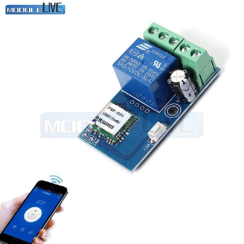 DC 12V Wireless Wifi Relay Switch Module Mobile Phone Remote Control Timer Jog Mode Low Power For Android IOS Smart Home 220v 4 channel wifi relay module phone app wireless remote control wifi switch jog self lock interlock 433m for smart appliances