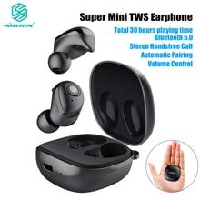 Aggiornamento Nillkin Auto Coppia TWS Auricolare Bluetooth 5.0 Vero Wireless IPX5 Stereo Chiamata in Vivavoce Custodia di Ricarica 750mAh Controllo Del Volume