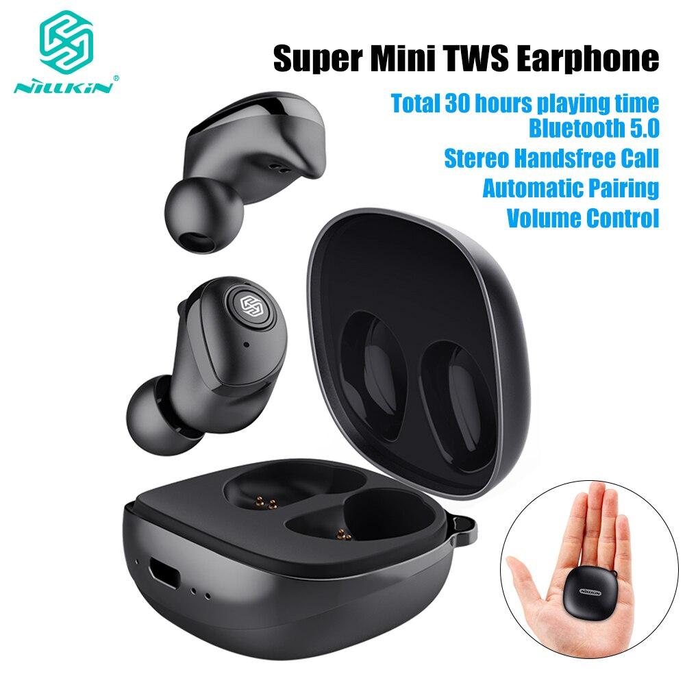 Mise à jour Nillkin Auto paire TWS écouteur Bluetooth 5.0 vrai sans fil IPX5 stéréo mains libres appel charge Case 750mAh contrôle du Volume