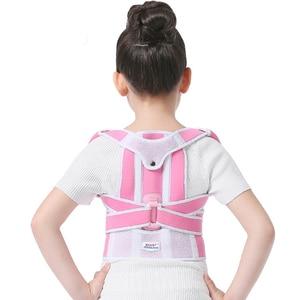 Image 5 - Children Kid Health Adjustable Magnetic Posture Corrector Back pain shoulder Support orthopedic corset Spine Support brace belt
