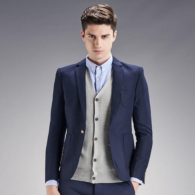 Синий и черный мужские костюмы куртка стильный простой жених смокинги куртка высокое качество работы формальные деловые костюмы куртка