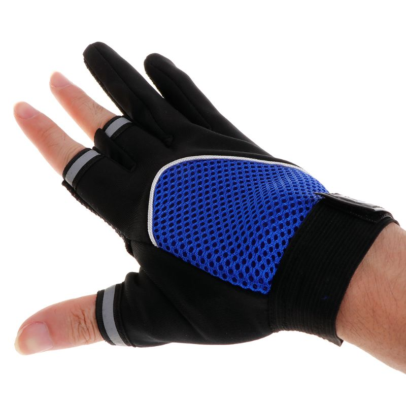 Cycling Gloves Fishing Mitten 5 Half Fingers Breathable Non Slip Outdoor Camping