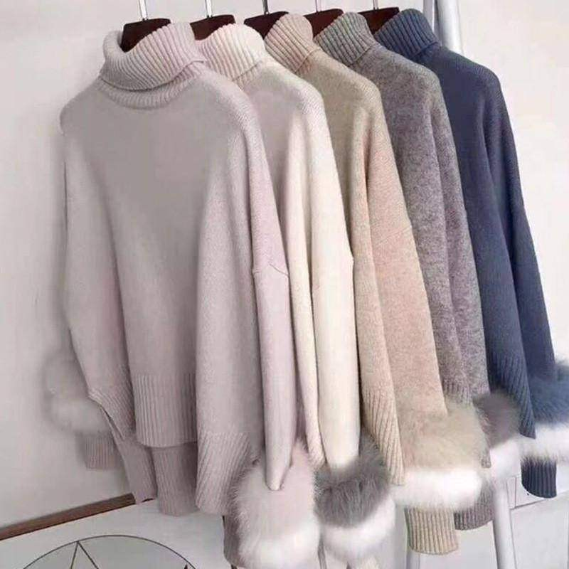 YISHI Womens Casual Loose Knit Loose Fluffy Mohair Pullover Jumper Sweater Tops Blue