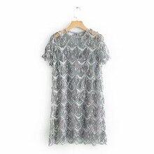Qz901 새로운 유럽 패션 sequines tassels 데코 짧은 소매 드레스 한국어 세련된 paillettes 드레스