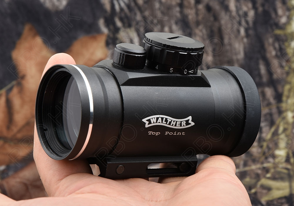 Hunting Shooting WaltherTop Point 1x40 Green Red Dot Sight Scope Picatinny Rail Mount Shockproof High Quality M1477