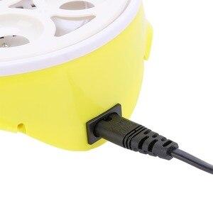 Image 4 - Mini 7 jaj automatyczne inkubatory jaj elektroniczny cyfrowy inkubator toczenie regulacja temperatury dla kurcząt kaczki gęsi przepiórki