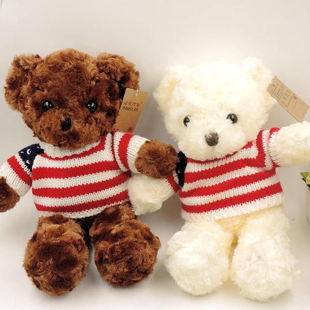 a17ff8cdf67e 35cm Cute Fluffy Teddy Bears Plush Stuffed Animals Soft Toys for Children  Girls Kids Gifts Teddy