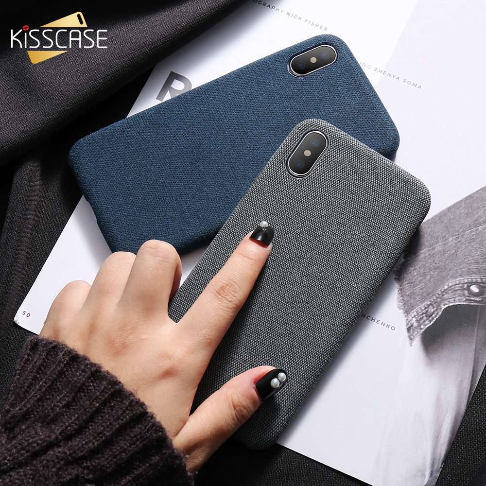KISSCASE High Quality Cloth Phone Cases For iPhone 6 6s 7 8 Plus Cover Light  Ultra Slim X XS MAX XR Conque