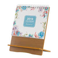 2019 Notepad Desk Calendar Creative Desktop Decoration Can Be Used As a Mobile Phone Stand Small Desk Calendar