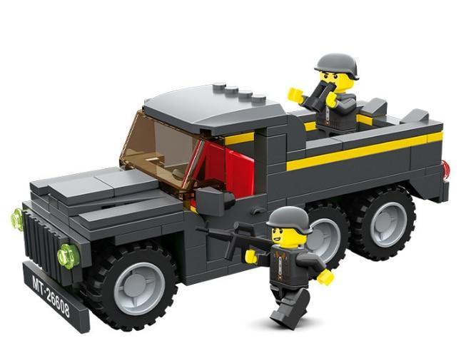 Mini assembly building block Military trucks bricks model army figures toys for boys 2660 boy  gift