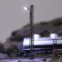 LQS59N 3 шт. Модель Железнодорожный светильник s решетки мачты лампа трек светильник N масштаб макет