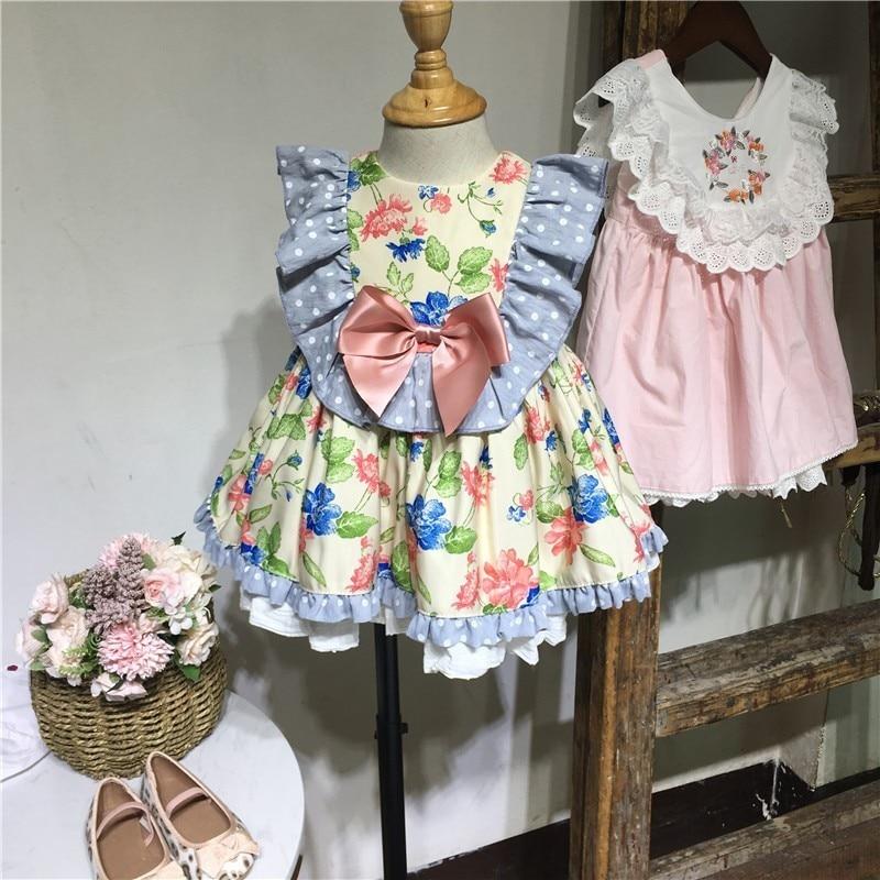 Bébé robes infantile robe florale pour les filles vêtements d'été 1 an bébé fille robe de soirée élégant enfants vêtements
