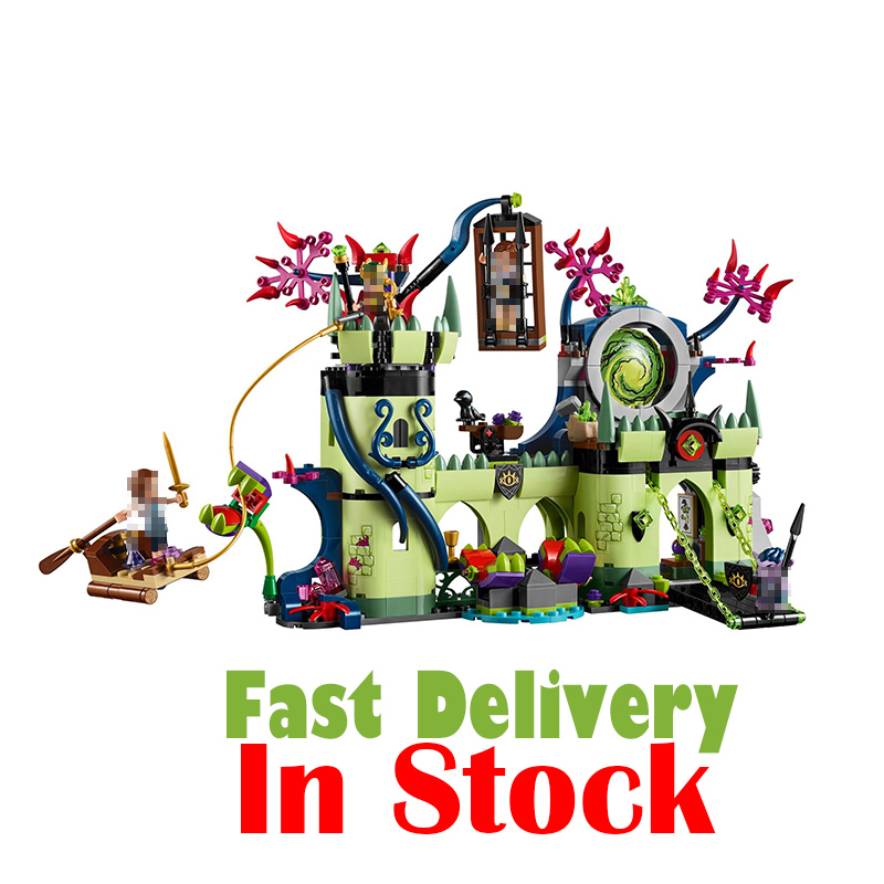 Elves Toys For Girls Breakout From The Goblin King's Fortress LEPIN 30011 Castle 750Pcs Building Blocks Bricks Compatible 41188 lepin 30017 505pcs elves series the aira