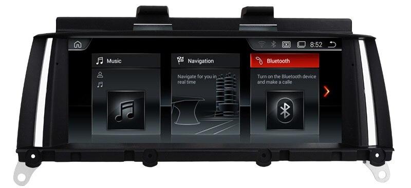 Voiture DVD GPS pour BMW X3 F25 X4 F26 2016 + GPS Radio BT USB SD AUX WIFI Audio vidéo stéréo miroir lien carte gratuite