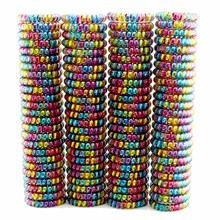 Lots 100 Pcs  Women Girls Size 5.5 CM Colorful Hair Bands Elastic Rubber Telephone Wire Ties Plastic Rope Gum Spring