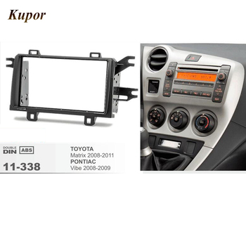 11-338 Car Radio Fascia para TOYOTA Matrix 2008-2011/PONTIAC Fascia Stereo CD Traço Guarnição Instalação kit quadro 178*100/173*98mm