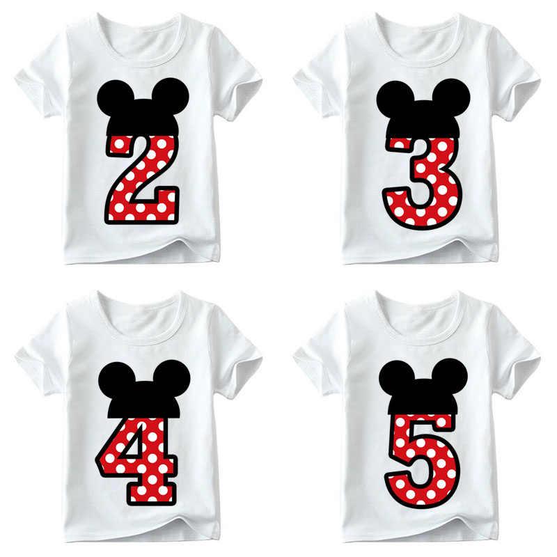 Niños niños niñas camiseta para cumpleaños verano niños ropa divertida camiseta Camisetas talla 1 2 3 4 5 5 5 6 6 7 8 9 regalo de Año