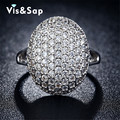 White gold plated rings hat micro pave AAA CZ diamond Rings For women Wedding engagement bague Bijoux fashion jewelry VSR043