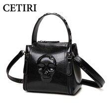 Skull Bag for Women Handbag Fashion Ladies Shoulder pu Leather Handbags Small Tote Vintage Women Black