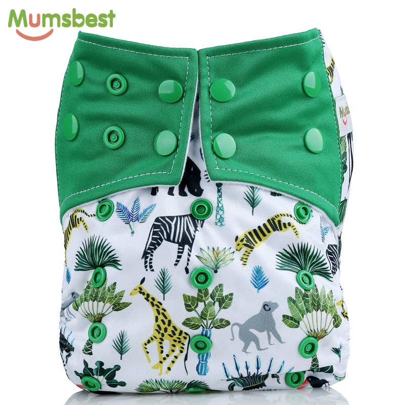 [Mumsbest] Baby Cloth Diaper Pocket Cartoon Animals Cloth Diapers Cover Babies Washable Waterproof Cloth Nappy Suit 3-13kg baby hangqiao baby 3 layers white burp cloths cloth diapers cotton diapers diapers diaper