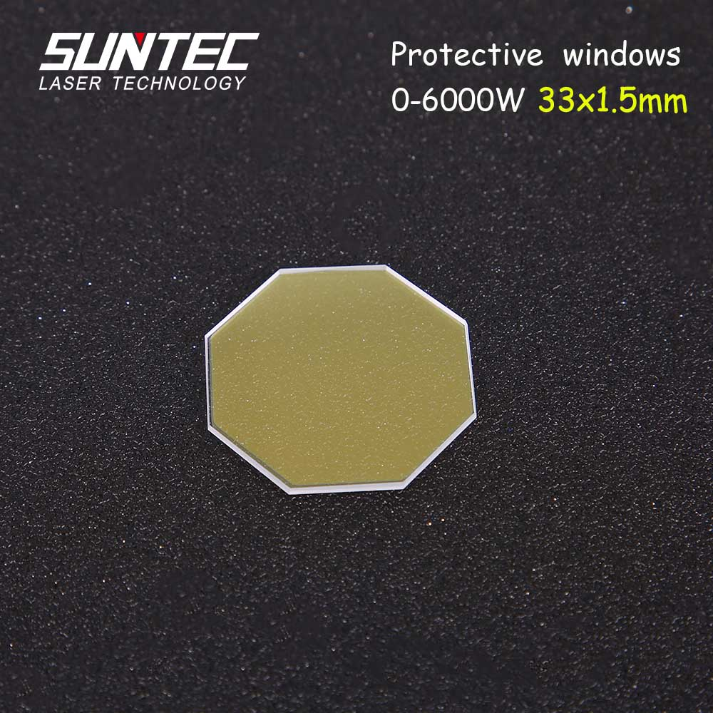 Suntec Fiber Laser Protection Mirrors 33*1.5mm For Amada Fiber Laser Cutting Machines 0-6000W Laser Replacement Parts 20pcs/lot
