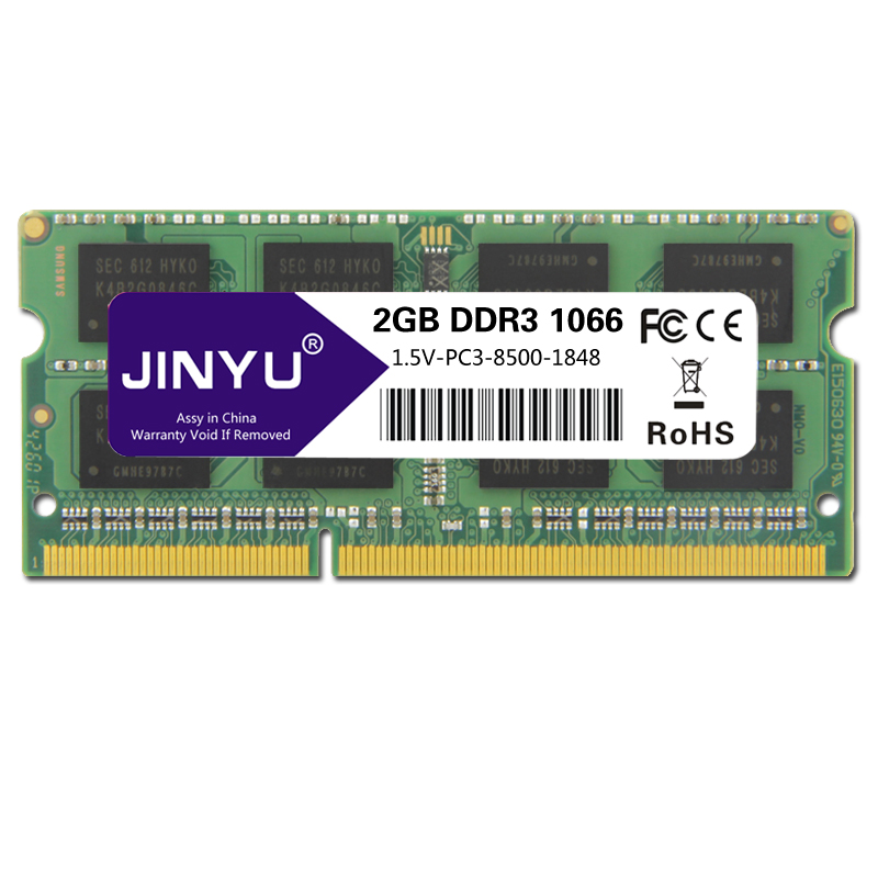 HOT-JINYU <font><b>Ddr3</b></font> <font><b>1066mhz</b></font> 1.5V 204Pin <font><b>Ram</b></font> Memory For Laptop image
