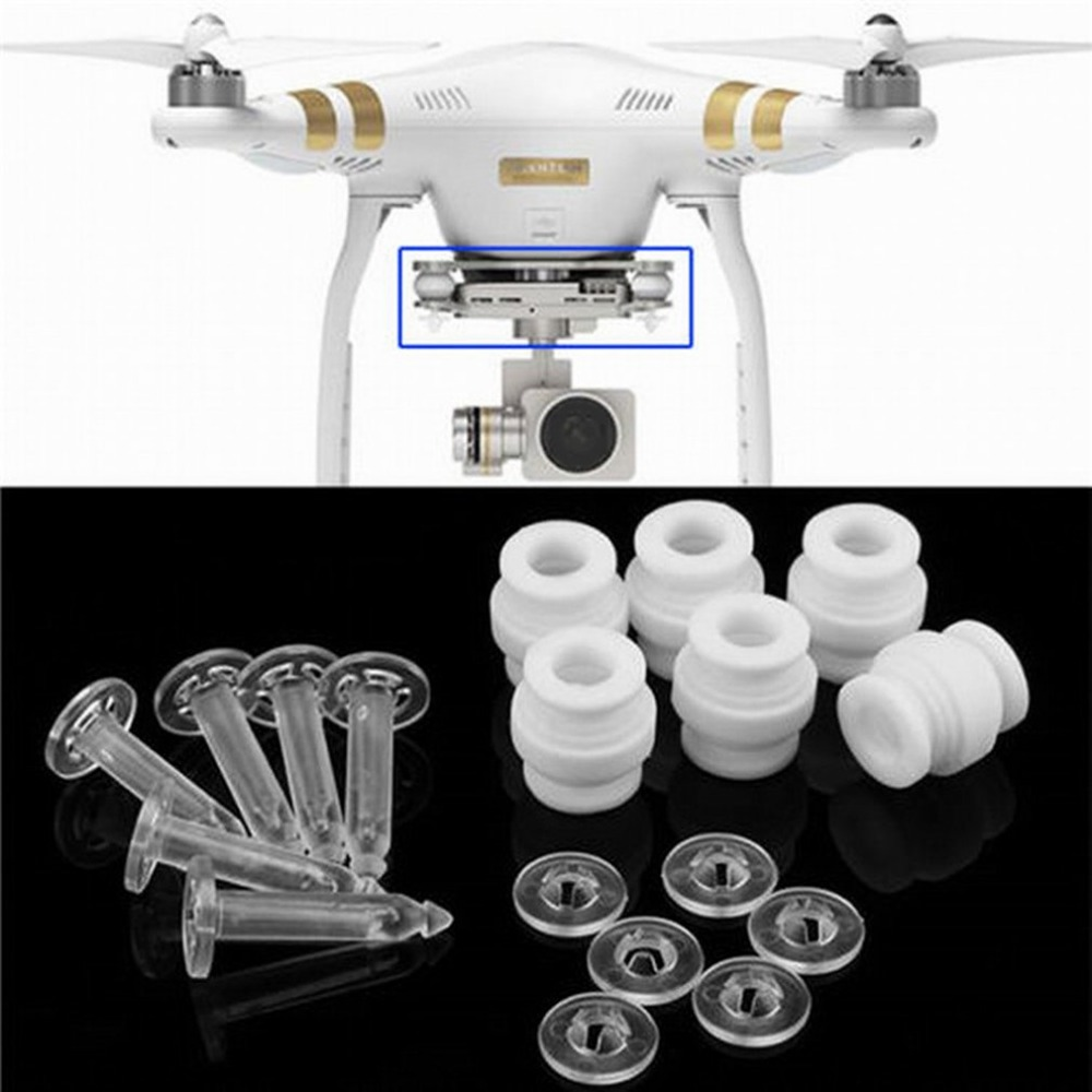 Camera Gimbal Shock Absorption Damping Rubber Balls & Anti-drop Pins Kit for DJI Phantom 3 Standard Professional AdvancedCamera Gimbal Shock Absorption Damping Rubber Balls & Anti-drop Pins Kit for DJI Phantom 3 Standard Professional Advanced