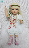 45cm high quality Silicone baby dolls/baby SD / BJD emulation beautiful princess Jointed doll Dress Up Doll