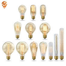 Retro Edison Light Bulb E27 220V 40W A19 A60 T10 T45 T185 ST64 G80 G95 Filament Vintage Ampoule Incandescent Bulb Edison Lamp retro lamp e27 220v vintage edison bulb 40w ampoule vintage light bulb edison lamp incandescent light filament edison bulb