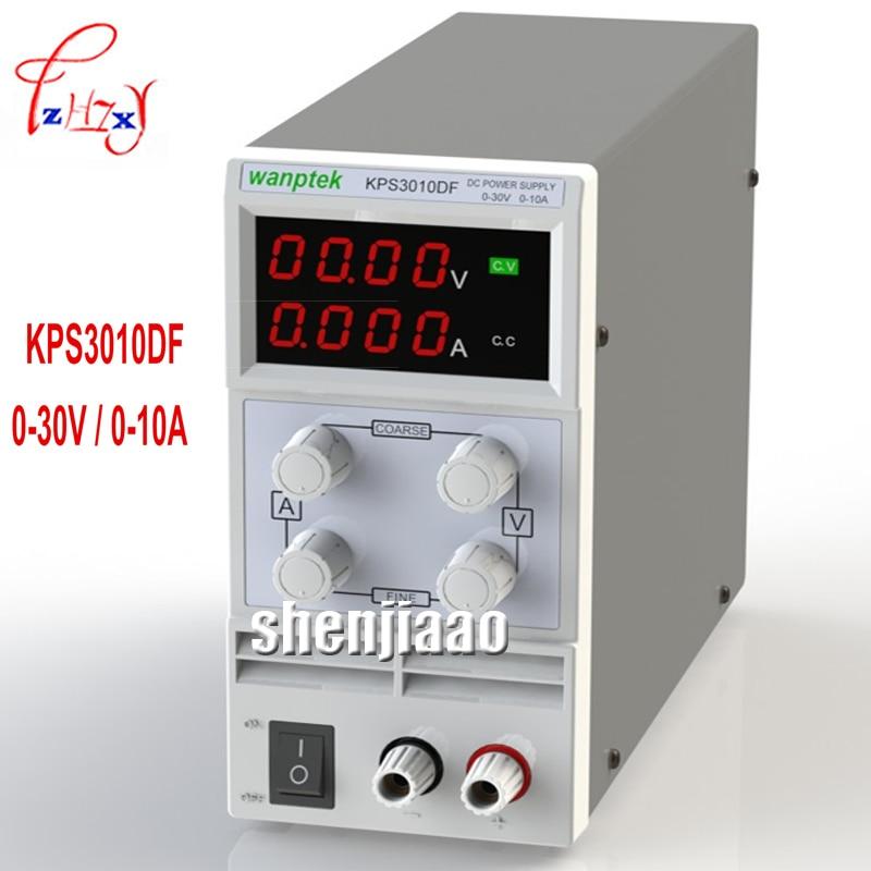 KPS3010DF 0-30V / 0-10A 110V-230V 0.1V / 0.001A EU LED Digital Adjustable DC switch Power supply mA displayKPS3010DF 0-30V / 0-10A 110V-230V 0.1V / 0.001A EU LED Digital Adjustable DC switch Power supply mA display