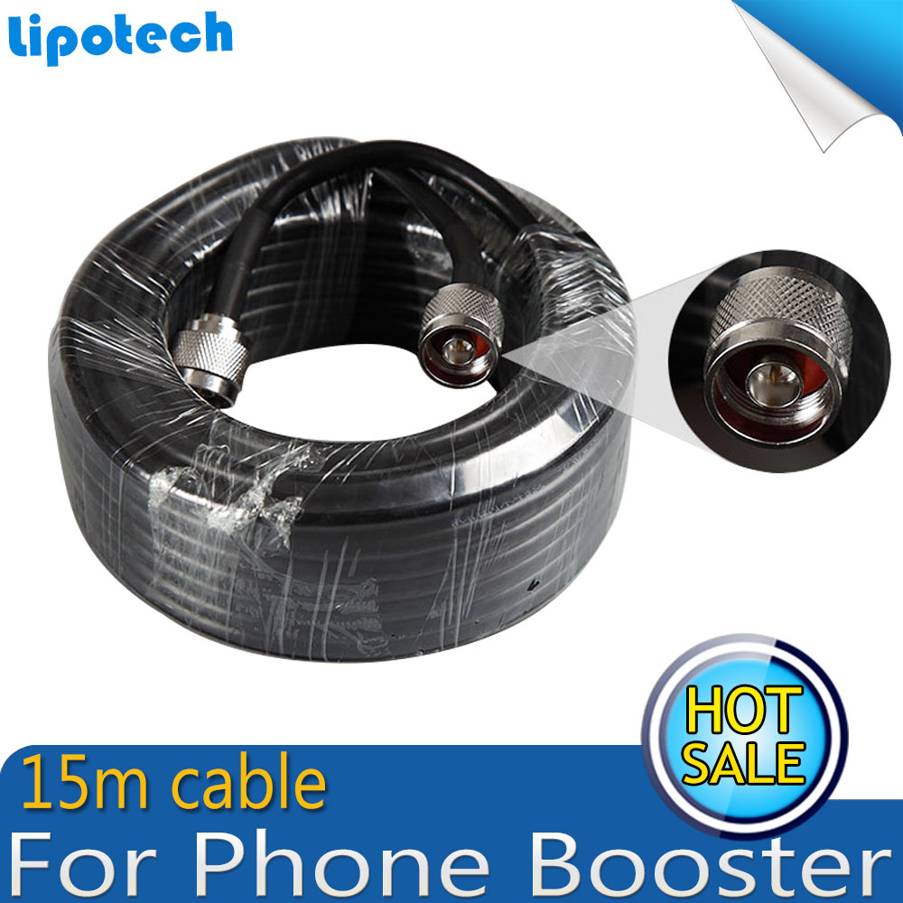 RG60 15 Meters Cable N MaleTo N Male Connector Coaxial Cable For Connecting With Mobile Phone Signal Booster Repeater Amplifier