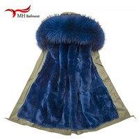 Real Fur Coats For Women Raccoon Fur Down Coat Lining Rabbit Fur Coat Fur Parkas For
