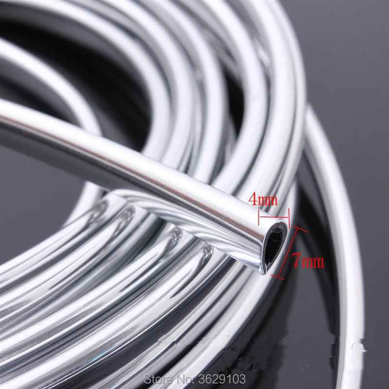 U Style Decoration Strip Grille Chrome Car Automotive Air Conditioning Outlet Car-styling For Peugeot 307 308 3008 2008 407 508