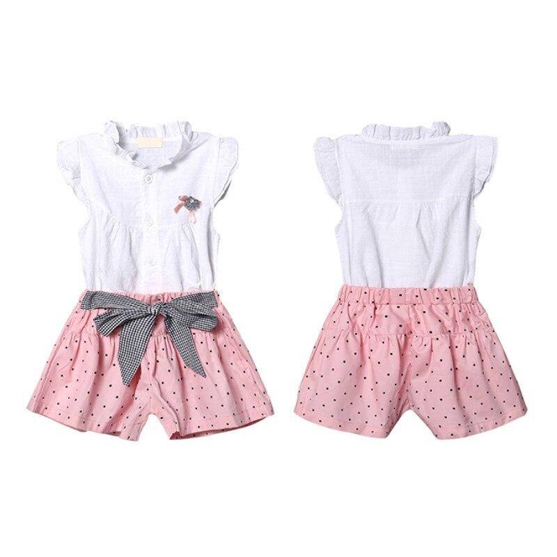 Ny stil Sommar Baby Girl Set Baby Spets Bow Bomull Kortärmad Kostym ... 71b89cab37667