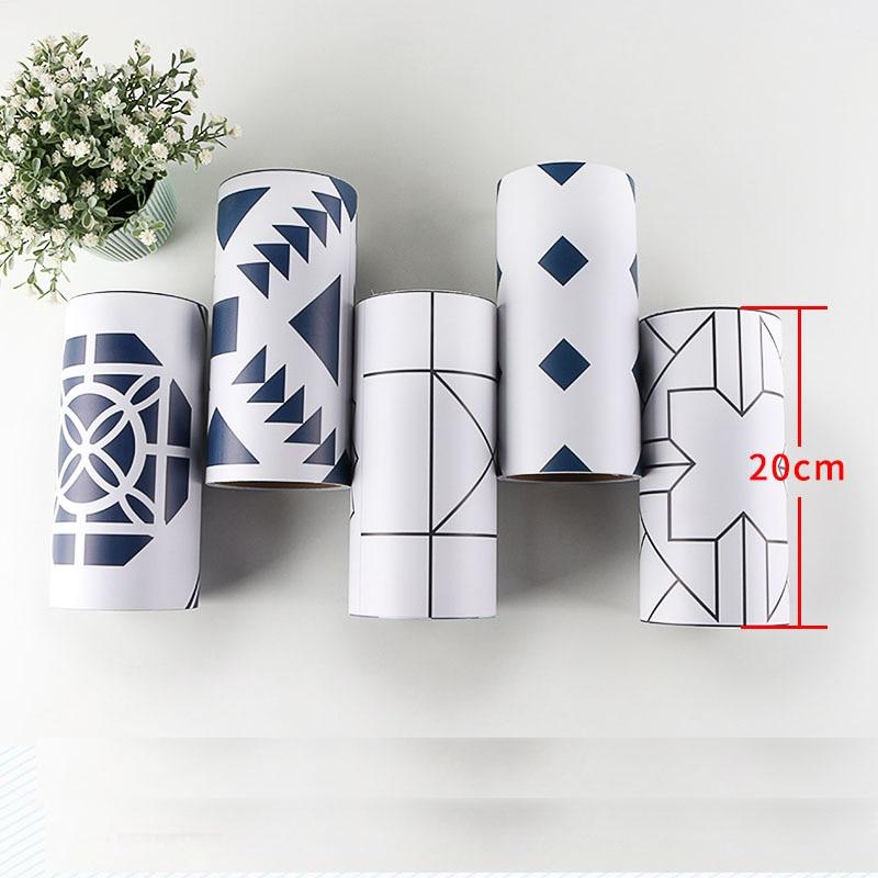 Corea del PVC Linea di Cintura 3d Wall Sticker per Cucina Bagno ...