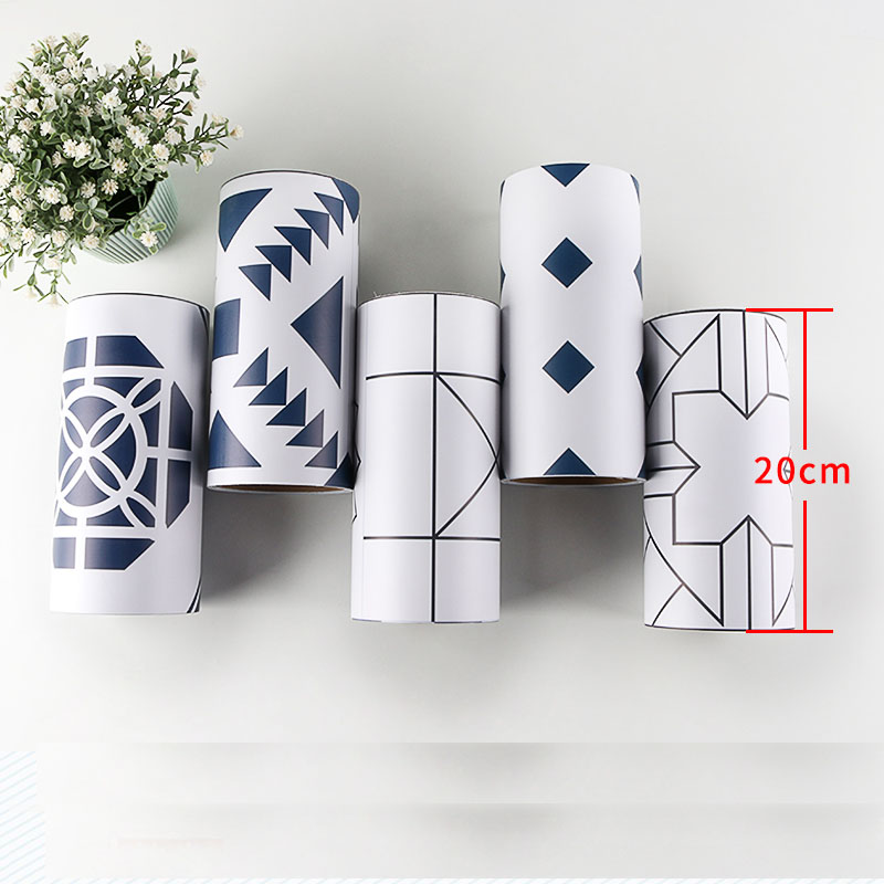 Korean PVC Waist Line 3d Wall Sticker For Bathroom Kitchen Tiles Cabinet Waterproof Self Adhesive Border 3d Stickers 20cmx500cm