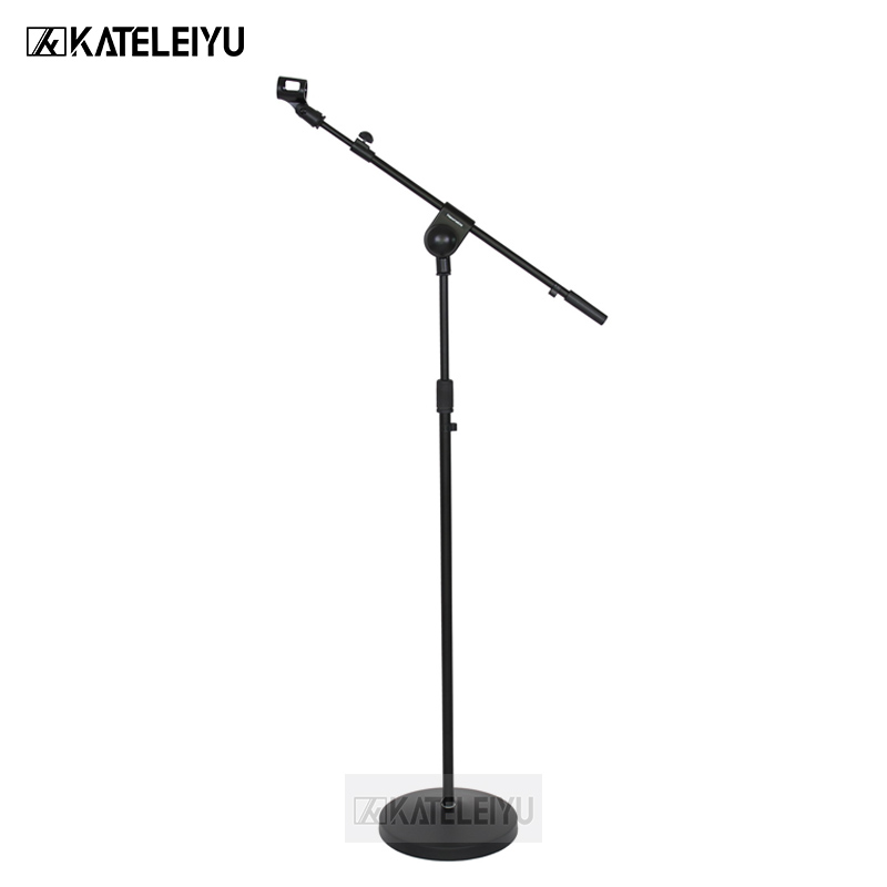 все цены на NB-107 Professional swing boom floor stand microphone holder Flexible Stage Microphone Stand Tripod онлайн