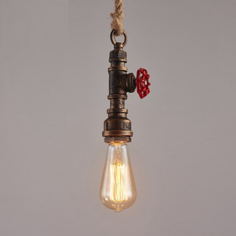 LukLoy Retro Industrial Wind Decoration Edison Light Bulb Hose Hemp Pendant Light Creative Restaurant Bar Loft American Lamp