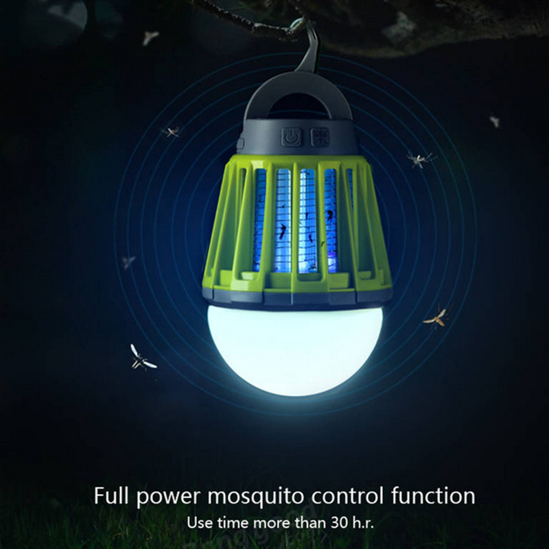 Garden Outdoor USB Charging LED Mosquito Killer Lamp Waterproof Climbers Mosquitoes Repeller Garden Pest Control Tools Supplies