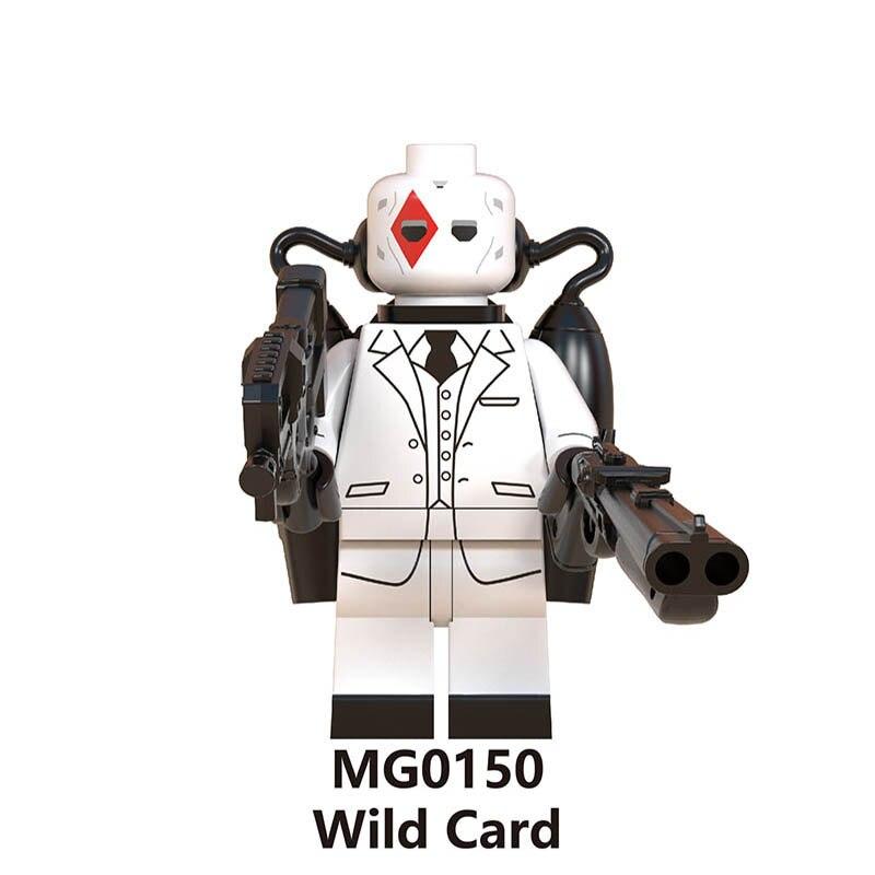 Building Blocks Legoinglys Fortress Night Skin Trooper Card Brite Bomber Merry Bumout Scorpion Bricks Mini Figures Toys Gifts