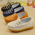 Cute rivet Children shoes Spring autumn loafers shoes girls boys Non-slip tendon sneakers kids PU leather baby casual kids shoes