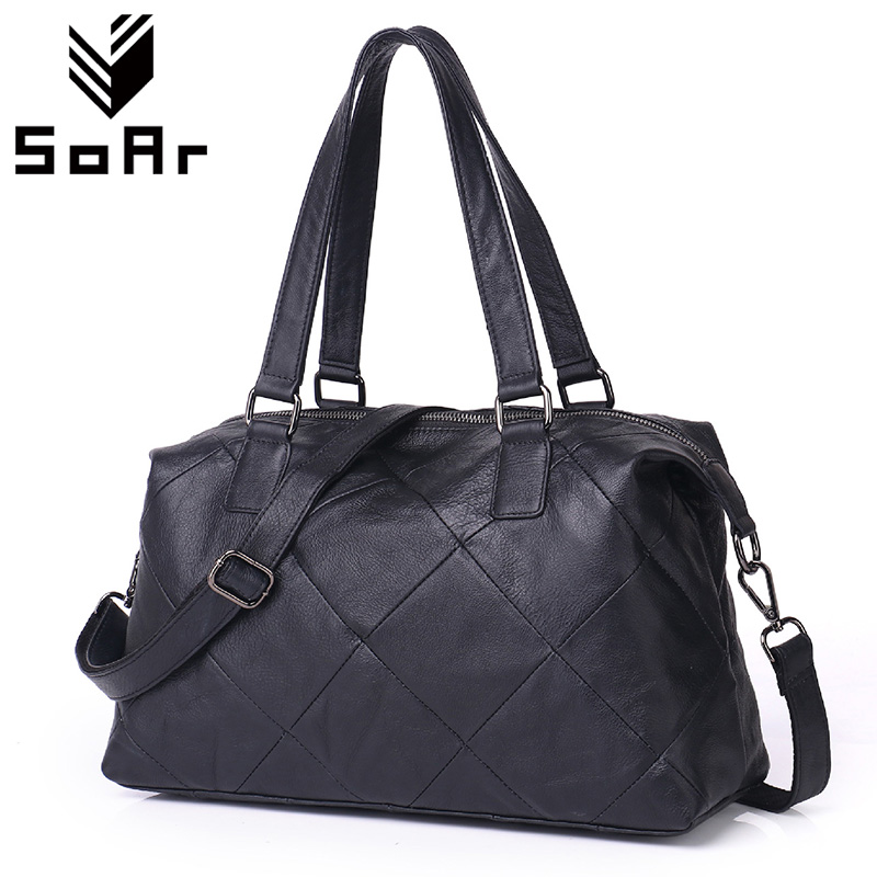 SoAr Genuine Leather Pillow Handbags Designer Handabags Women Messenger Bags Bolsa Feminia New Fashion Shoulder Crossbody Bags 2017 new female genuine leather handbags first layer of cowhide fashion simple women shoulder messenger bags bucket bags