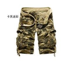 Armee Grün Military Herrenbekleidung Große Größe 29-38 Neue Mode Lässige Herren Shorts Marke Lose Cargo-Shorts DISTANZSCHEIBEN-KORN-4.5MM A1217