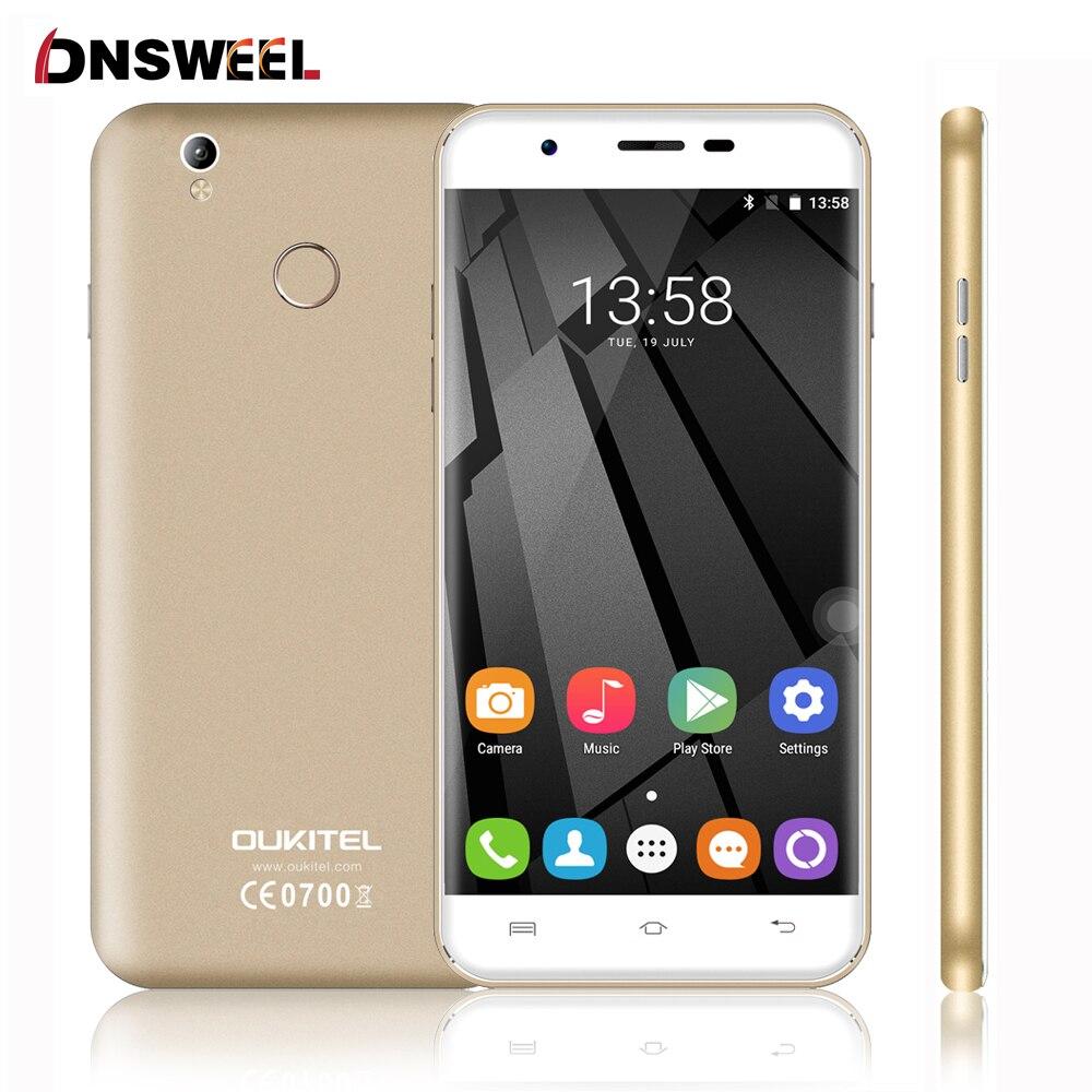Free Silicon Case Oukitel U7 Plus 4G Cell Phone MT6737 Quad Core Fingerprint ID Smartphone 2G