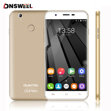 Бесплатный Силиконовый Чехол Oukitel U7 Плюс 4 Г Сотовый Телефон MT6737 Quad Core Отпечатков Пальцев ID Смартфон 2 Г + 16 Г Android6.0 13MP мобильный телефон