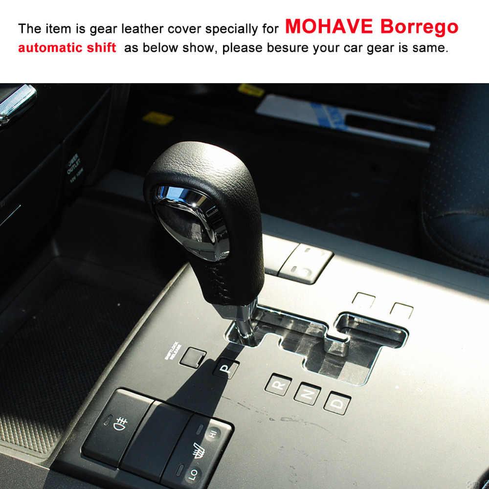 Auto Gear Shift Knob Leather Chrome OEM Parts For Kia 2008-2018 Borrego Mohave