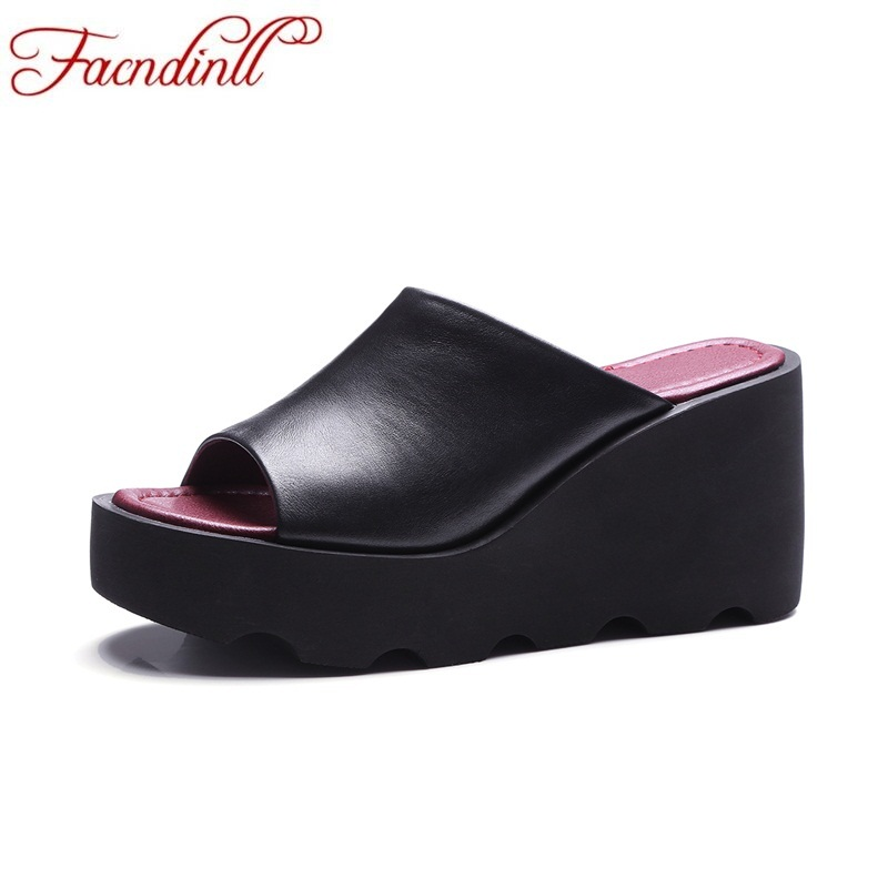 FACNDINLL fashion wedges summer shoes woman new hot sale platform sandals ladies casual date open toe dress women shoes facndinll new women summer sandals 2018 ladies summer wedges high heel fashion casual leather sandals platform date party shoes