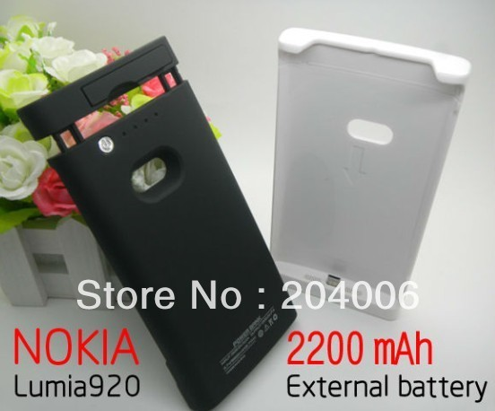 black case for Nokia Lumia920 Lumia 920 2200mah rechargeable Back up Backup battery case ,External power pack bank free shipping