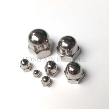 Stainless Steel Acron Nuts DIN1587 M3 M4 M5 M6 M8 M10 M12 Acorn Nut 304 Cap Decorative Cover Semicircle